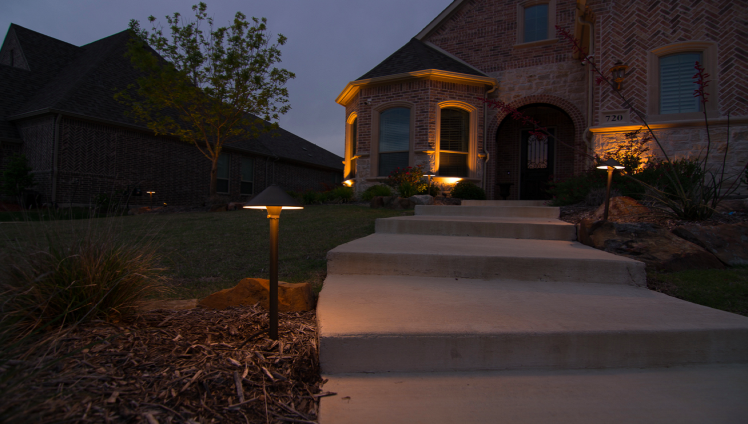 Landscape Lighting Path Lights Photo