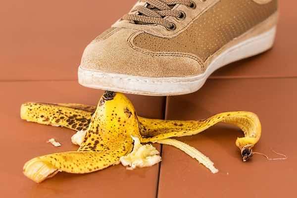 Shoe Slipping On Banana