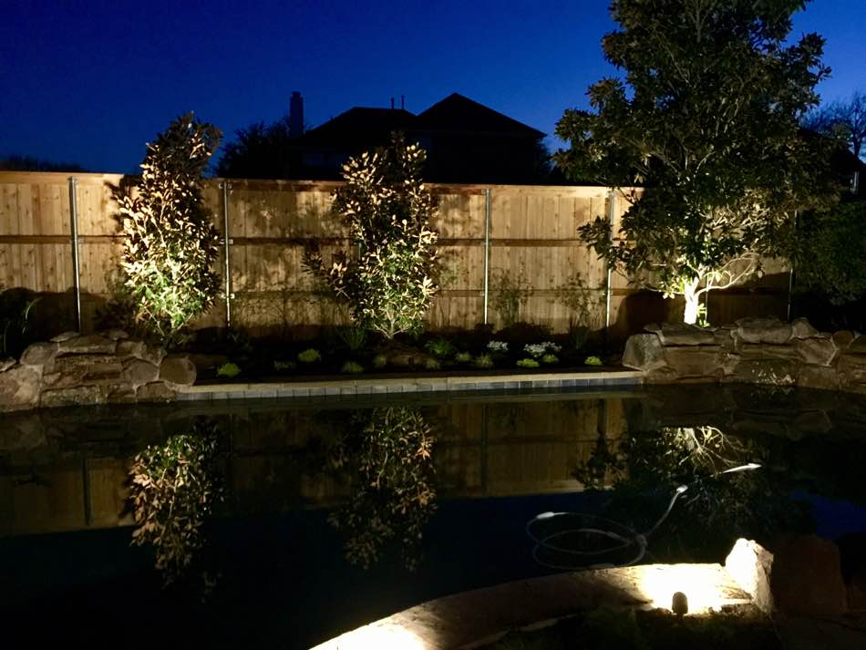 Garden Lighting at Pool Side