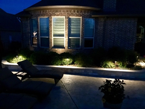 Garden Lighting on Side of House
