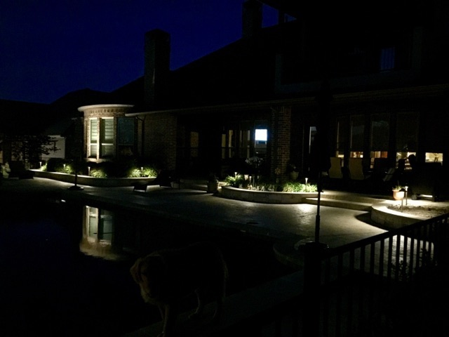Overview Shot of Landscape Lighting Project