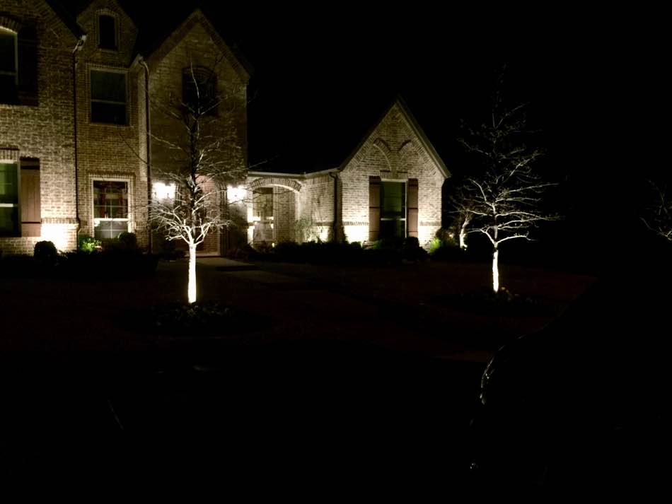 Landscape Lighting At A Home