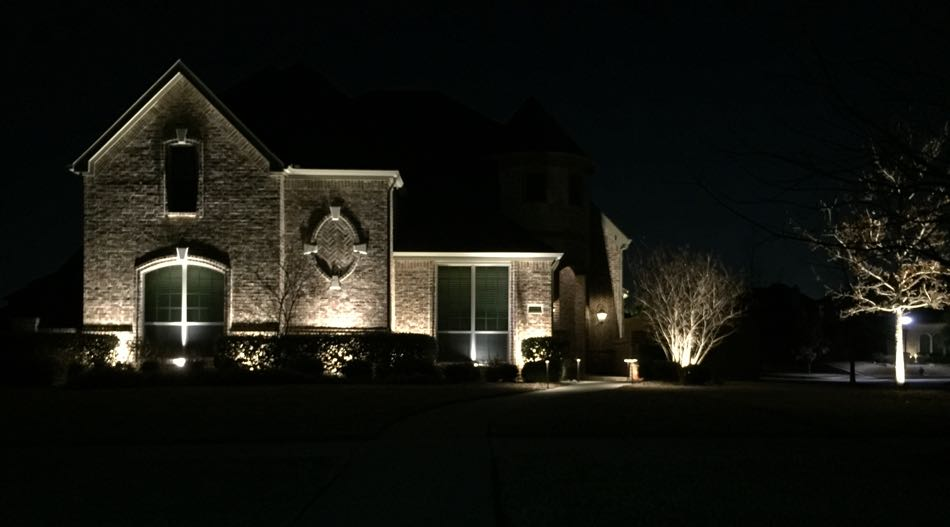 Landscape Lighting Night Curb Side