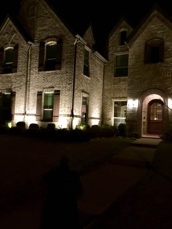 Landscape Lighting Entrance To Home