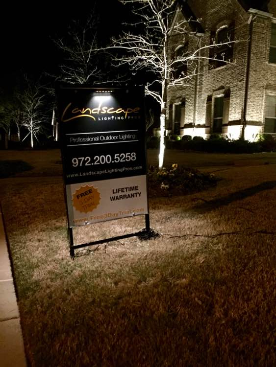 Landscape Lighting Pros Sign