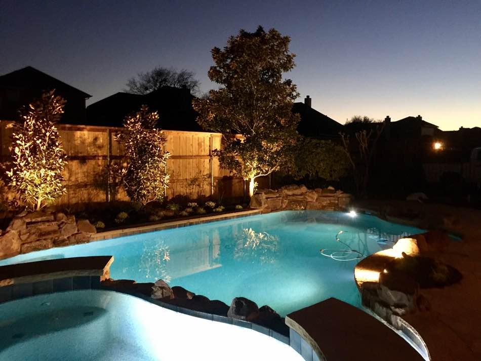 Garden Lighting at Pool Side