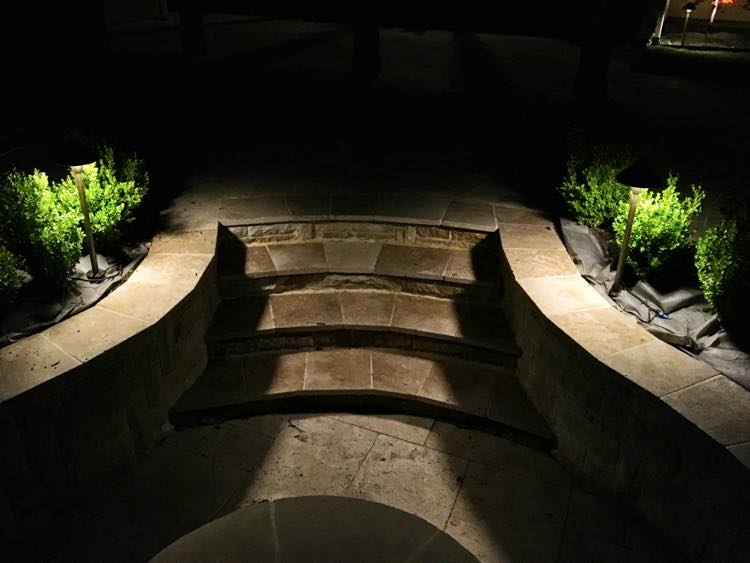 Steps Lit With Path Lights