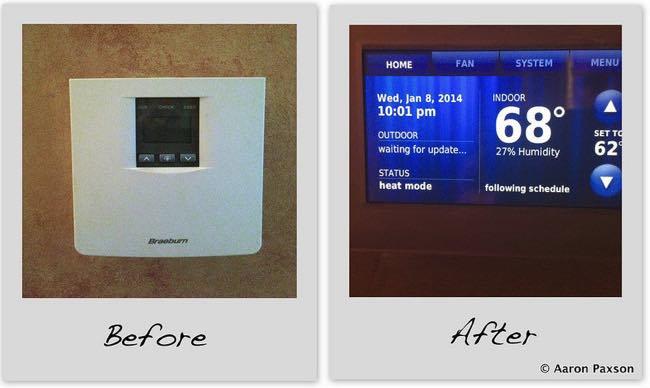 Before and After of Thermostat