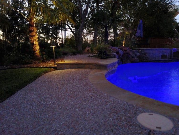 poolside path lights