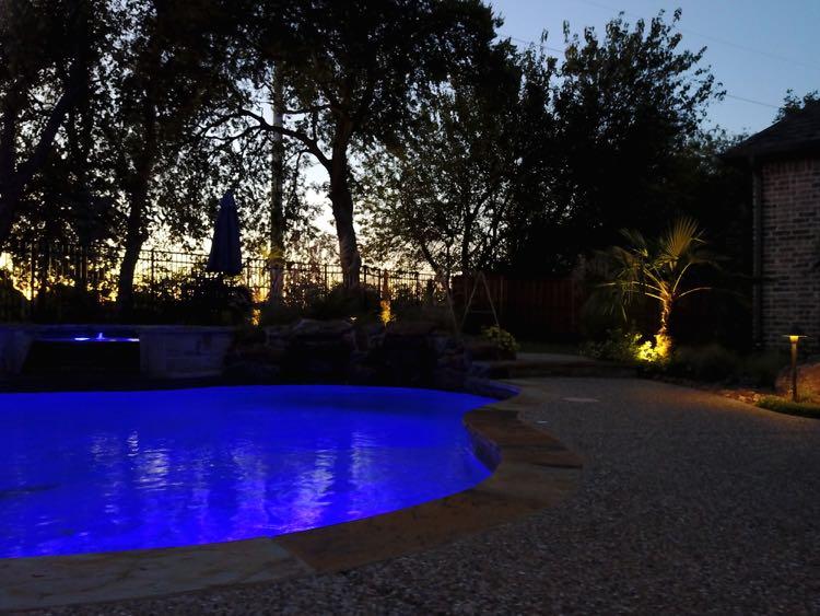 poolside lighting